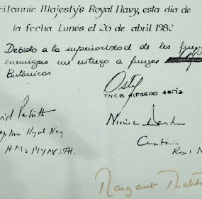 Copy of Falklands surrender documents