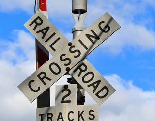US rail crossing