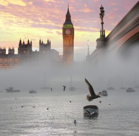 Westminster in the London fog