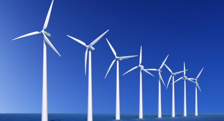 Wind turbines, off Denmark