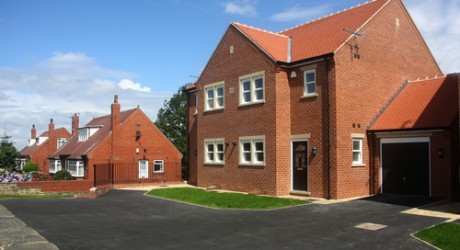 Newly built houses in Yorkshire