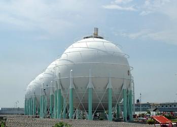Gas tank depot in Surabaya