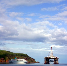 Oil rig off Black Isle, Scotland
