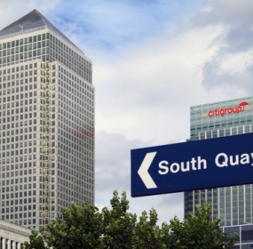 Canary Wharf, in London's Docklands