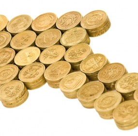 UK Economy growing pound coins